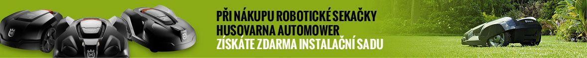 Při nákupu robotické sekačky Husqvarna Automower získáte zdarma instalační sadu