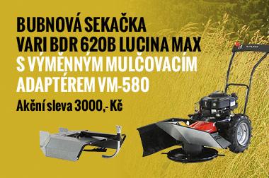 Bubnová sekačka VARI BDR 620B Lucina MaX s výměnným mulčovacím adaptérem VM-580 - akční sleva 2000,- Kč